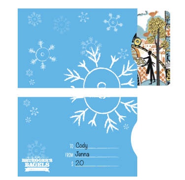 gift card sleeve design
