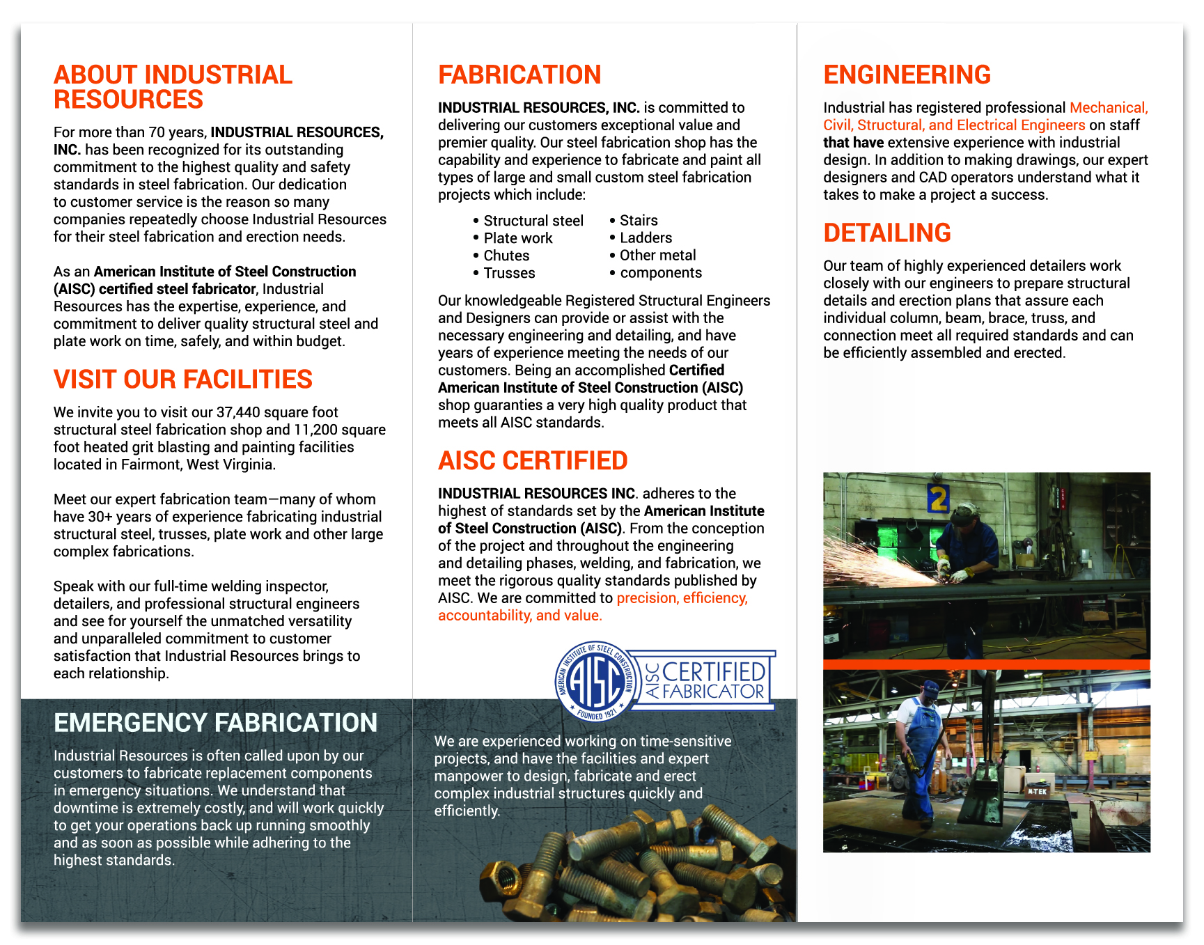 Industrial Resources Brochure