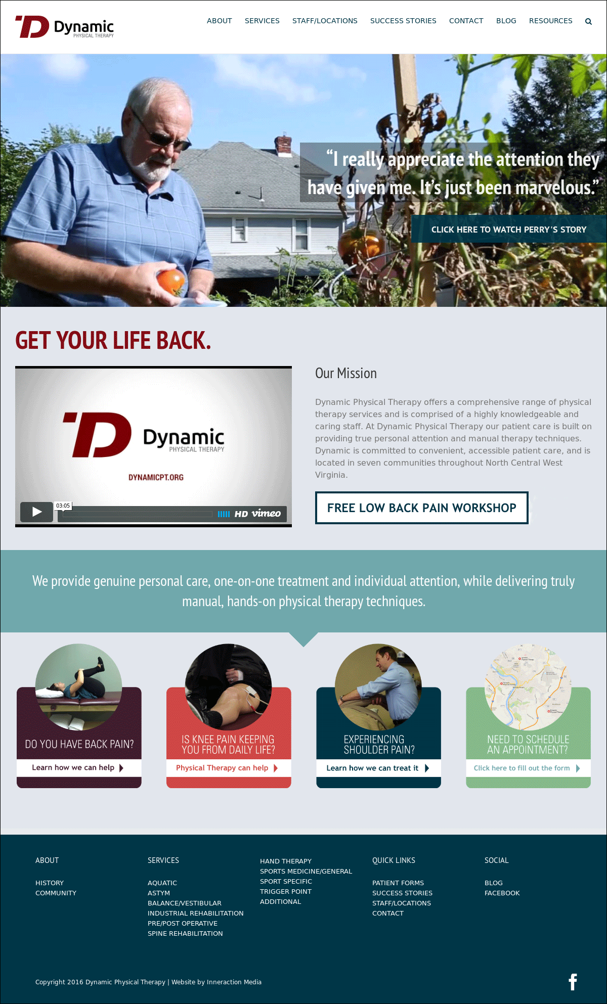 Dynamic Physical Therapy Website