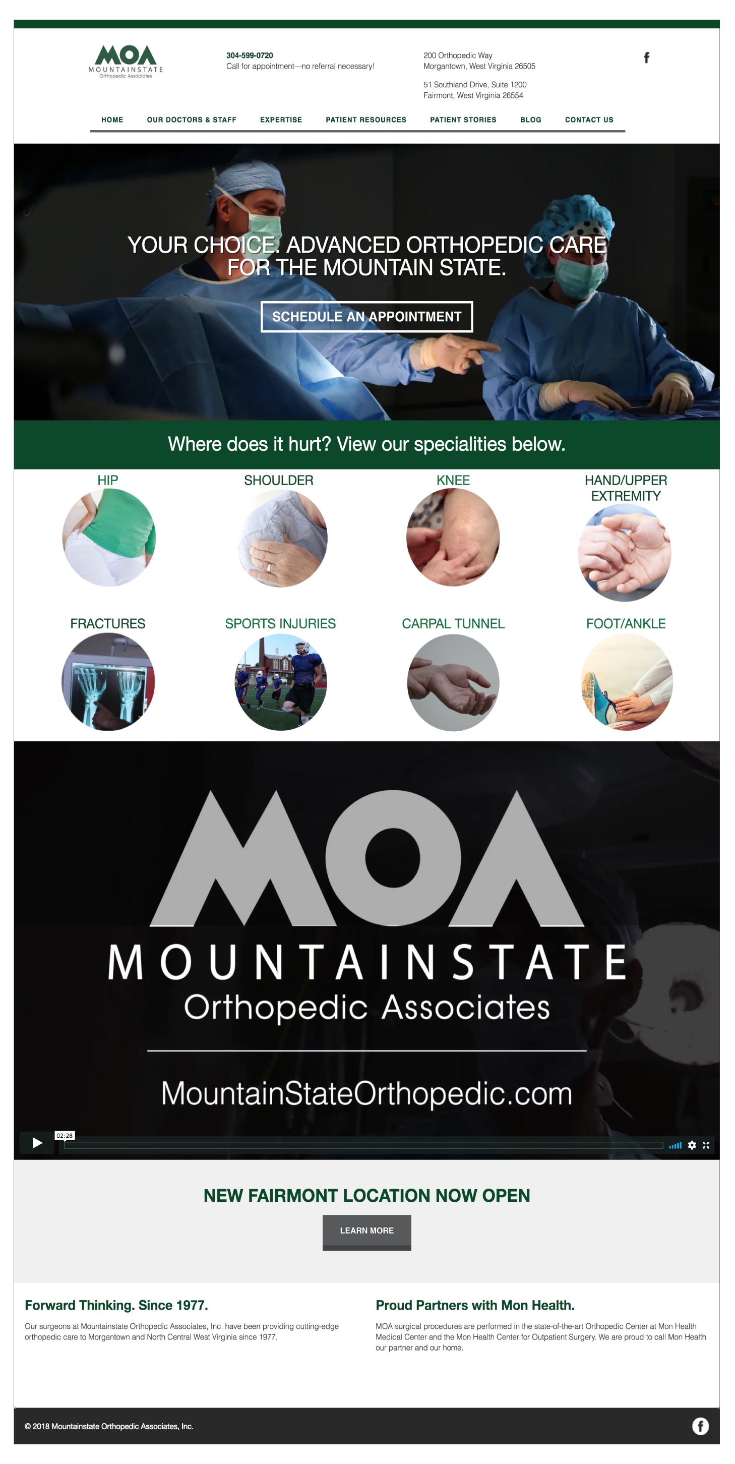 Mountainstate Orthopedics Associates Website
